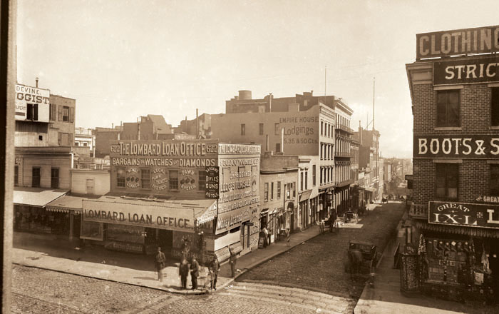 photo of Early San Francisco, Circa 1880, Copyright©2004 California Views phone 831-373-3811