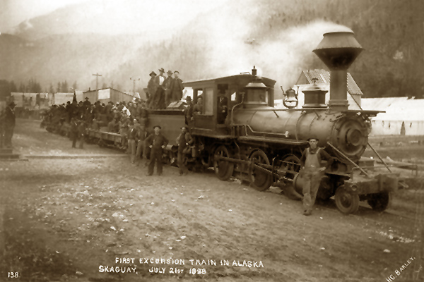 First Locomotive Skagway, Alaska by H.C. Barley