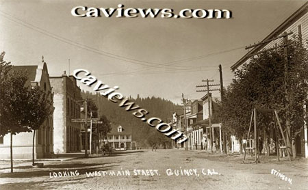 Quincy, Plumas County Northern California history photo collection