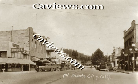 Main Street, Shasta City Northern California history photo collection