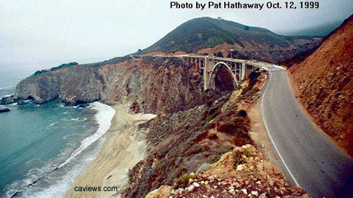 Bixby Creek Bridge, Big Sur Copyright©1996 California Views