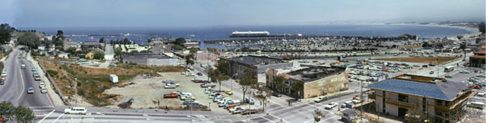 Monterey Bay Accession # 73-000-0018 Photo by Pat Hathaway  ©1973 Looking down on the Monterey in the midst of urban-renewal