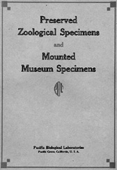 Pacific Biological Laboratories catalog 1929-1930