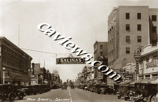 Salinas Street 1929 California Views Historical Photo Collection