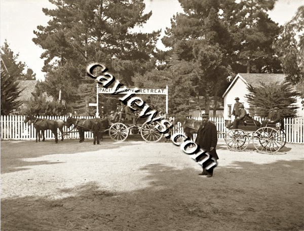 Pacific Grove Gate Circa 1881, Copyright©1998 California Views